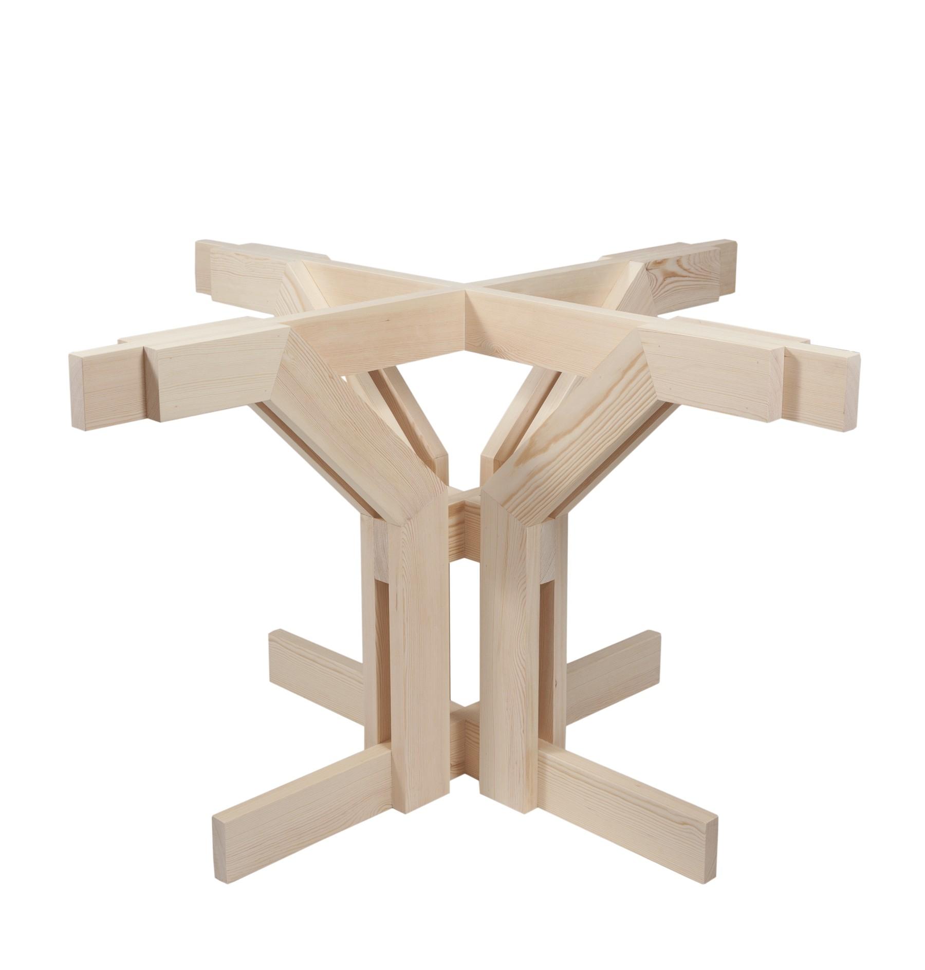 Pie en madera de pino natural
