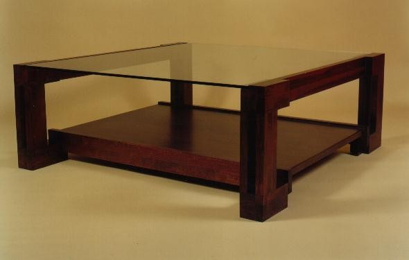 Mesa de centro, 4 ces esquina de 120x120x45 cm.