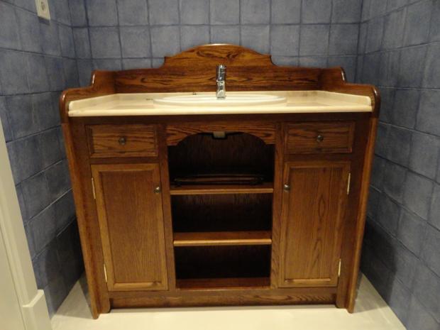 Mueble para baño terminado