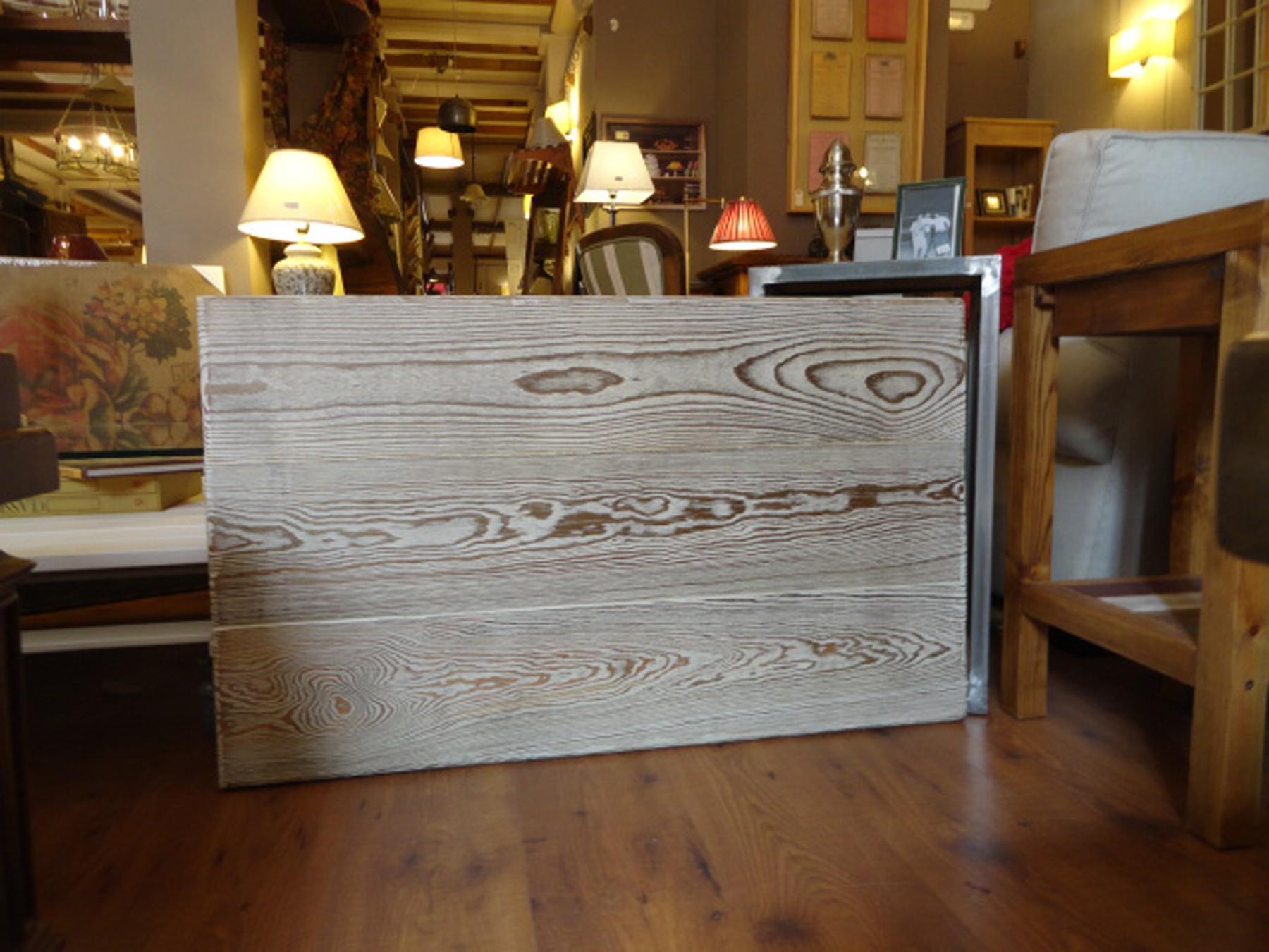 Cabecero tabla vieja laca, para colgar a pared de 100x60 cm.